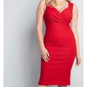 ModCloth Lady Love Song Red Formal Sheath Dress